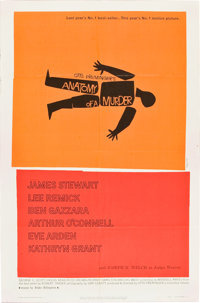 "Anatomy of a Murder (Columbia, 1959). One Sheet (27"" X 41"")"
