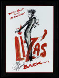 Music Memorabilia:Autographs and Signed Items, Liza Minnelli Signed Concert Poster....