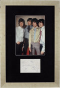 Music Memorabilia:Autographs and Signed Items, Pink Floyd Band Autographs Display....