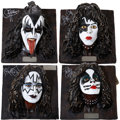 Music Memorabilia:Memorabilia, KISS Limited Edition Sculptures Set.... (Total: 4 )