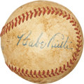 Autographs:Baseballs, Circa 1935 Babe Ruth Single Signed Baseball PSA VG-EX+ 4.5....