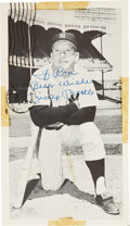 Autographs:Post Cards, 1969 Mickey Mantle Signed Postcard. ...