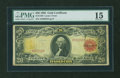 Large Size:Gold Certificates, Fr. 1180 $20 1905 Gold Certificate PMG Choice Fine 15....