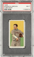 Baseball Cards:Singles (Pre-1930), 1909-11 T206 Mordecai Brown, Cubs Shirt PSA NM 7....