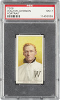 Baseball Cards:Singles (Pre-1930), 1909-11 T206 Piedmont Walter Johnson, Portrait PSA NM 7....