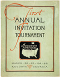 Golf Collectibles:Miscellaneous, 1934 First Masters Tournament Official Program....