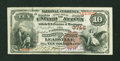 National Bank Notes:Colorado, Leadville, CO - $10 1882 Brown Back Fr. 487 The Carbonate NB Ch. #3746. ...