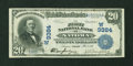 National Bank Notes:Kansas, Natoma, KS - $20 1902 Date Back Fr. 643 The First NB Ch. # (W)9384. ...