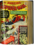 Silver Age (1956-1969):Superhero, Amazing Spider-Man #8-283 And Annuals #1-20 Bound Volumes (Marvel, 1964-86).. ...