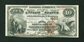 National Bank Notes:Pennsylvania, Mauch Chunk, PA - $10 1882 Brown Back Fr. 479 The Second NB Ch. #469. ...