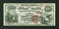 National Bank Notes:Pennsylvania, Wilkinsburg, PA - $10 1882 Brown Back Fr. 490 The Central NB Ch. #(E)5265. ...