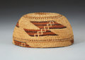 American Indian Art:Baskets, A HUPA TWINED MAIDEN'S CAP. c. 1910...