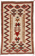 American Indian Art:Weavings, A NAVAJO REGIONAL RUG. Crystal. c. 1935...