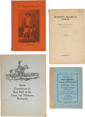 Books:Pamphlets & Tracts, Four Texas Pamphlets, including: J. M. Franks. Seventy Years inTexas: Memories of the Pioneer Days, Indian Depredat... (Total: 4Items)