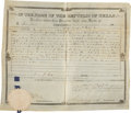 "Autographs:Statesmen, Anson Jones Republic of Texas Land Grant Signed ""AnsonJones"" as president and ""Thos Wm Ward"" as commissionerof the..."