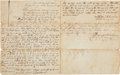 "Autographs:Statesmen, Republic of Texas Land Transaction Signed by Daniel Montague. Threepages, 7.75"" x 9.75"", August 5, 1847, ""Republic of Tex..."