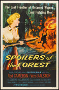 """Movie Posters:Drama, Spoilers of the Forest (Republic, 1957). One Sheet (27"""" X 41""""). Drama.. ..."""