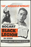 "Movie Posters:Crime, Black Legion (Warner Brothers, R-1950s). One Sheet (27"" X 41""). Crime.. ..."