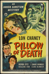 "Pillow of Death (Universal, 1945). One Sheet (27"" X 41""). Horror"