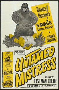 "Untamed Mistress (Howco, 1956). One Sheet (27"" X 41""). Cult Classic"