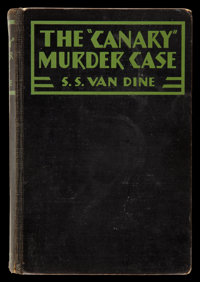 "The Canary Murder Case (Paramount, 1927). Hardcover Book (5"" X 7.5,"" 343 Pages). Crime"