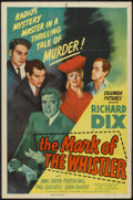"Movie Posters:Mystery, The Mark of the Whistler (Columbia, 1944). One Sheet (27"" X 41""). Mystery.. ..."