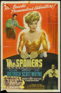 """Movie Posters:Western, The Spoilers (Realart, R-1947). One Sheet (27"""" X 41""""). Western.. ..."""