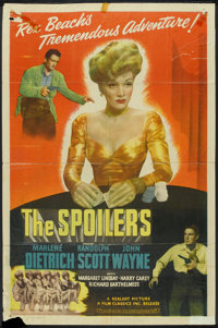 """The Spoilers (Realart, R-1947). One Sheet (27"""" X 41""""). Western"""