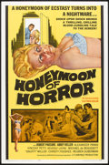 "Movie Posters:Horror, Honeymoon of Horror (Manson Distributing, 1964). One Sheet (27"" X 41""). Horror.. ..."