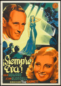 "Movie Posters:Comedy, Stand-In (United Artists, 1937). Spanish One Sheet (27.5"" X 39""). Comedy.. ..."