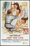 """Movie Posters:Drama, Lust for Life (MGM, R-1962). One Sheet (27"""" X 41"""") and Lobby Cards (4). Drama.. ... (Total: 5 Items)"""