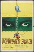 "Movie Posters:Science Fiction, Donovan's Brain (United Artists, 1953). One Sheet (27"" X 41"").Science Fiction.. ..."