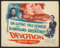 "Movie Posters:Drama, Devotion (Warner Brothers, 1946). Lobby Card Set of 8 (11"" X 14""). Drama.. ... (Total: 8 Items)"