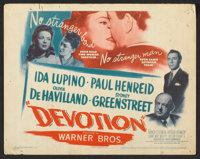 """Devotion (Warner Brothers, 1946). Lobby Card Set of 8 (11"""" X 14""""). Drama. ... (Total: 8 Items)"""