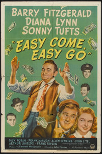 "Easy Come, Easy Go (Paramount, 1947). One Sheet (27"" X 41""). Drama"