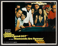"Diamonds Are Forever (United Artists, 1971). Lobby Card Set of 8 (11"" X 14""). James Bond. ... (Total: 8 Items)"