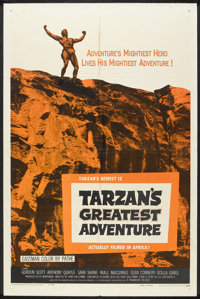 "Tarzan's Greatest Adventure (Paramount, 1959). One Sheet (27"" X 41""). Adventure"