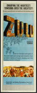 "Movie Posters:War, Zulu (Paramount, 1964). Insert (14"" X 36""). War.. ..."