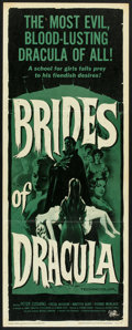 "Movie Posters:Horror, Brides of Dracula (Universal International, 1960). Insert (14"" X 36""). Horror.. ..."