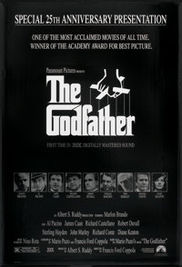 """The Godfather (Paramount, R-1997). 25th Anniversary One Sheet (27"""" X 40"""") SS. Crime"""