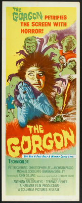 "The Gorgon (Columbia, 1964). Insert (14"" X 36""). Horror"