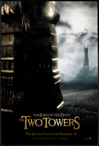 "The Lord of the Rings: The Two Towers (New Line, 2002). One Sheet (27"" X 40"") DS Advance. Fantasy"