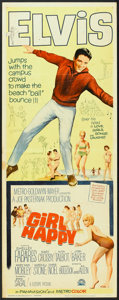 "Movie Posters:Elvis Presley, Girl Happy (MGM, 1965). Insert (14"" X 36""). Elvis Presley.. ..."