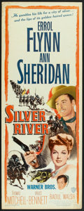 """Movie Posters:Western, Silver River (Warner Brothers, 1948). Insert (14"""" X 36""""). Western.. ..."""