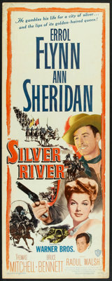 """Silver River (Warner Brothers, 1948). Insert (14"""" X 36""""). Western"""