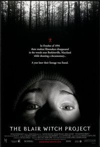 "The Blair Witch Project (Artisan, 1999). One Sheet (27"" X 40"") DS. Horror"