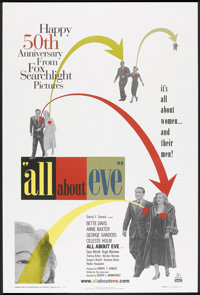 "All About Eve (20th Century Fox, R-2000). 50th Anniversary One Sheet (27"" X 40"") DS. Drama"