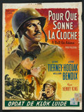 """Movie Posters:Drama, A Bell for Adano (20th Century Fox, 1950s). Post-War Belgian (14"""" X 19""""). Drama.. ..."""