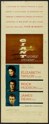 "Giant (Warner Brothers, 1956). Insert (14"" X 36""). Drama"