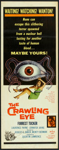 "Movie Posters:Science Fiction, The Crawling Eye (DCA, 1958). Insert (14"" X 36""). Science Fiction.. ..."